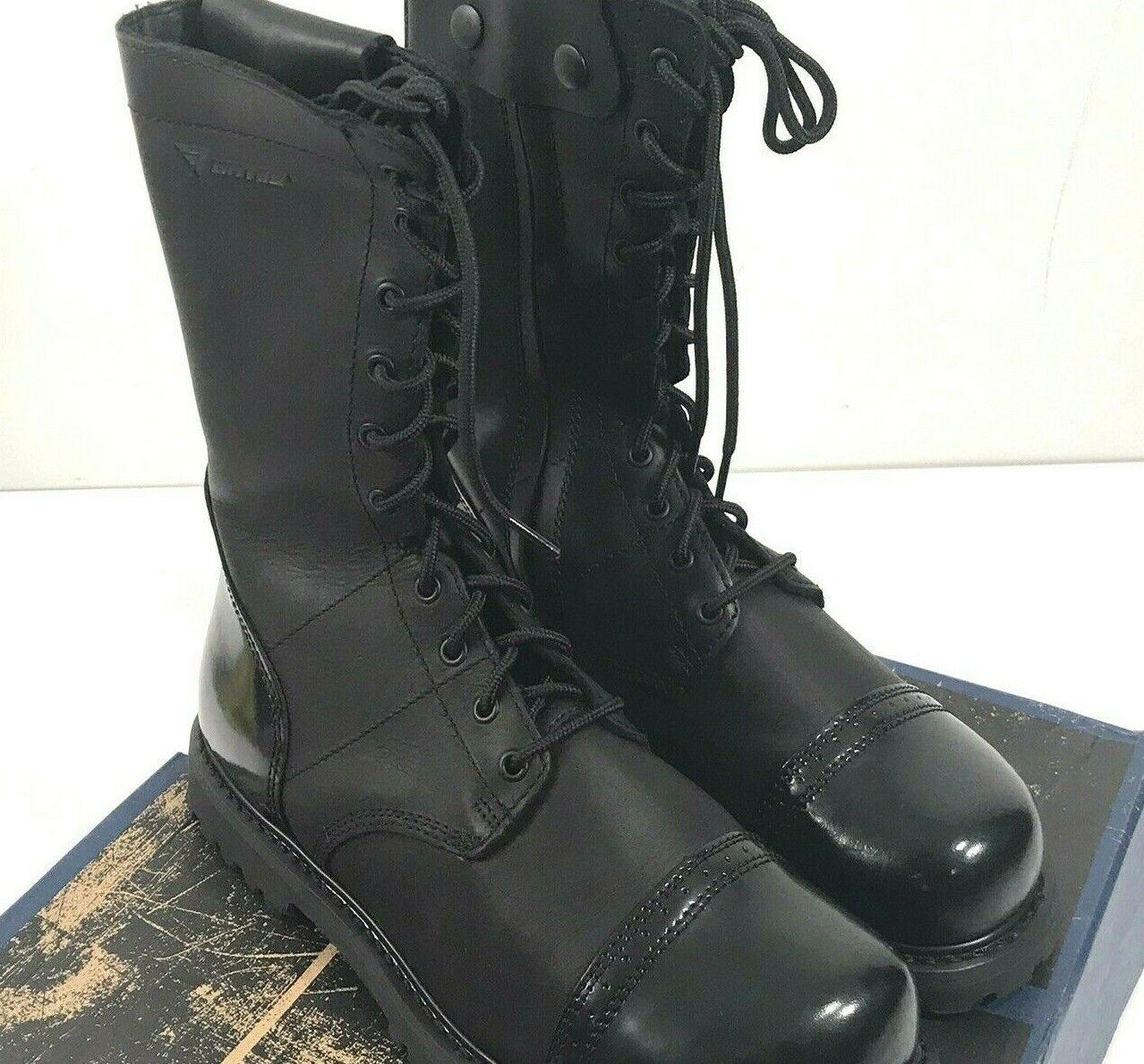 NIB herren BATES E02184 PARATROOPER 11  SIDE ZIP Stiefel schwarz 11.5 W
