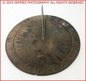 Vintage-Virginia-Metalcrafters-Grow-Old-With-Me-The-Best-Is-Yet-To-Be-Sundial