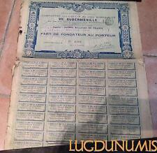 Compagnie Coloniale et des Mines D'Or de Suberbieville - Madagascar Paris