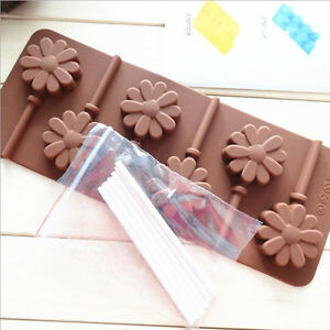 6-Sunning-Flower-Silicone-Lollipop-Mold-Sticks-Baking-Hard-Candy-Pop-Mould-Tray