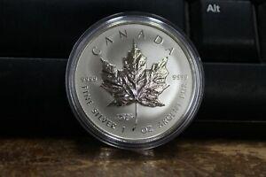 2014World-Money-Fair-Privy-Marked-Slvr-Mpl-Leaf-Bullion-5-Pure-Slvr-13836-OOAK
