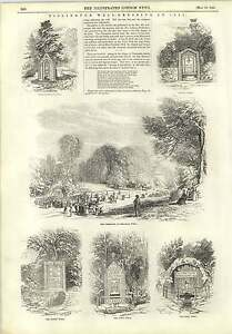 1845-Tissington-Well-Dressing-Ceremony-Coffin-Well-Town-Well