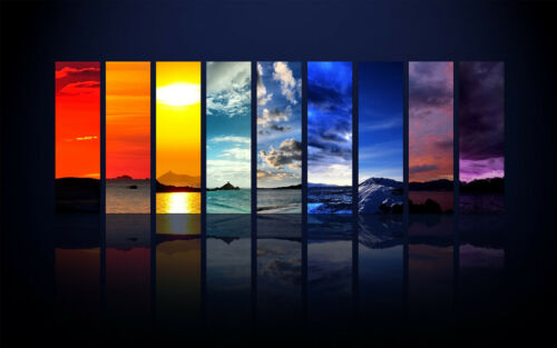 Nine Skies Home Decor Canvas Print A4 Size 210 x 297mm