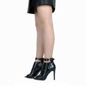 NEW-Women-Ankle-Boots-Peep-Toe-Stiletto-High-Heel-Casual-Shoes-Plus-Size-4-20