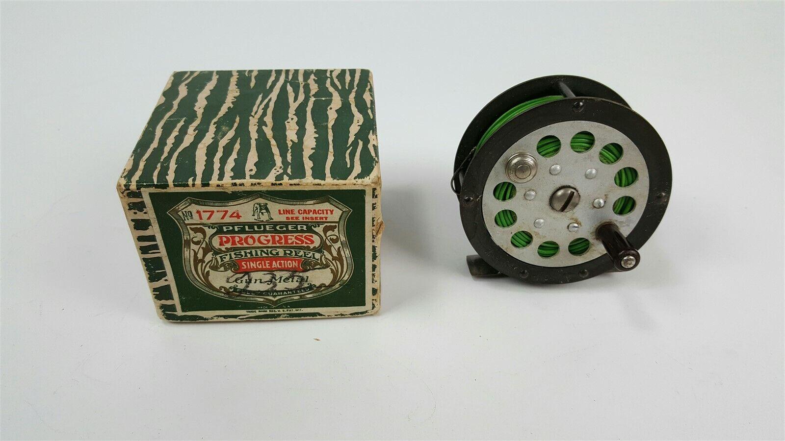Vintage Pflueger Progress 1774 Angeltrommel in Box