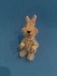 "DEB CANHAM  ""MICHAEL""  FROM PETER PAN SERIES-LIGHT MOHAIR RABBIT-3"" JOINTED"