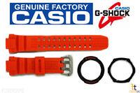 Casio Original Gw-3000m-4a G-shock Orange Band & (outer & Inner) Bezel Combo