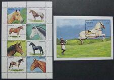 Guyana1992 Pferde Pferderassen Horses Araber Lipizzaner 3855-62 Block 200 MNH