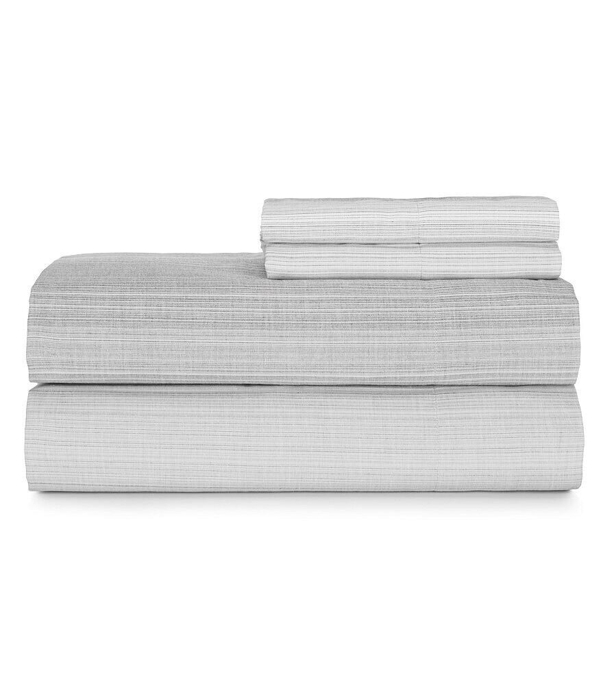 Moderne by Noble Excellence Striped 160-Thread-Count Cotton Percale Full Sheets