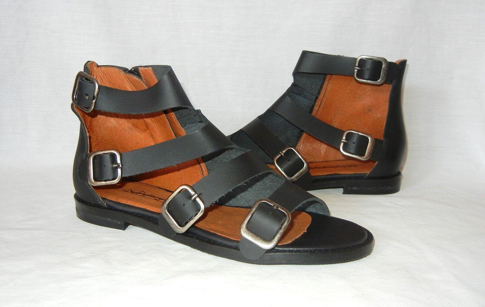 Sixtyseven Damenschuhe Lorik Asymmetrical Leder Ankle Boot Sandales Retail 155 sz 8