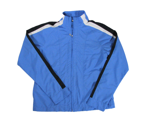 Nike Jacket Light Blue Full Zip L 12/14 Women Long Sleeve Polyester Sturdy Construction