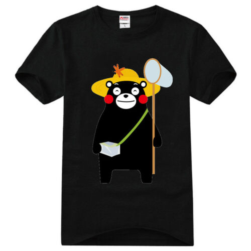 Anime KUMAMON Cotton T-Shirt Short Sleeves Casual O-Neck Tee Shirts Summer Tops
