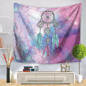 Colorful Wall Tapestry Romantic Feather Dream Catcher Hanging Fabric Bohemian