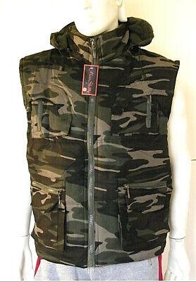 Giaccone Uomo Giubbotto Militare Gilet Camouflage B334-f6 Vest Tg L 2xl 3xl Con Il Miglior Servizio