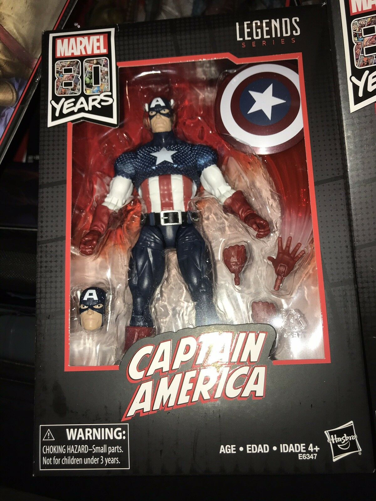 MARVEL LEGENDS 80th Anniversary CAPTAIN AMERICA New USA SELLER IN HAND