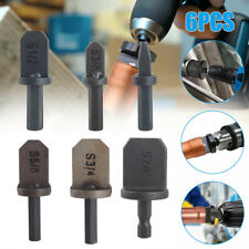 6x Air Conditioner Swaging Drill Bit Copper Tube Flaring Pipe Expander Tools Set
