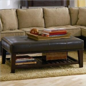 Image Is Loading Coaster Ottoman Brown 500872 48 034 X