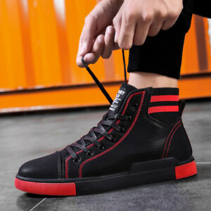 Men-039-s-Fashion-Sneakers-Sports-Casual-Shoes-High-Top-Breathable-Athletic-Jogging
