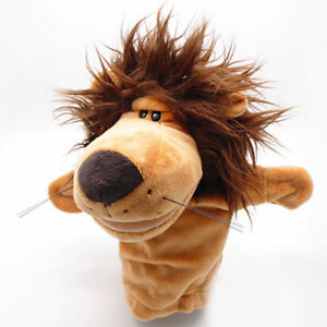 MOUTH-OPEN-Cartoon-Lion-Animal-Kids-Preschool-Pretend-Play-Hand-Puppet-Plush-Toy