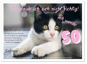 Geburtstagseinladungen Lustig Originell Text Katze Feier Party 40