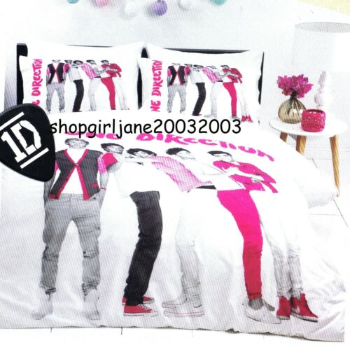 pink Single//Twin Bed Quilt Doona Duvet Cover Set One Direction 1D