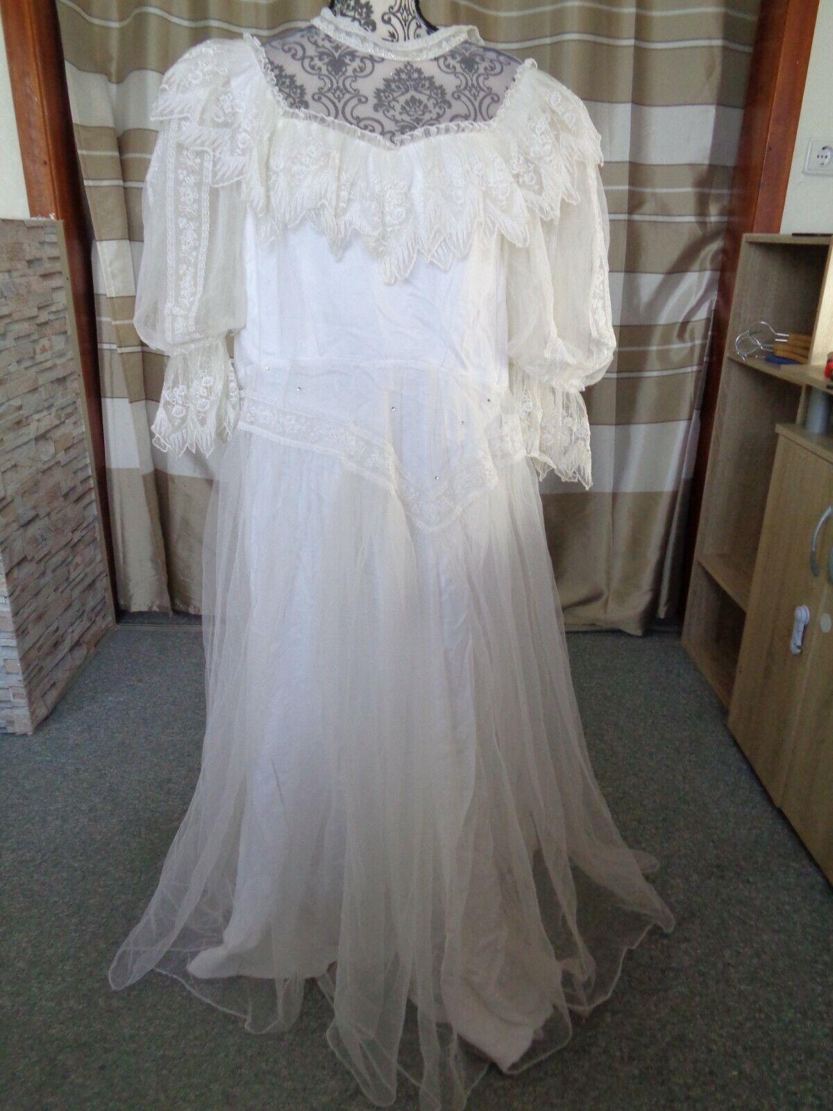 (14)Edles Damen Braut Standesamt Abend Kleid GR: 40