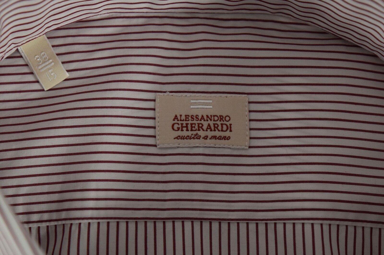 ALESSANDRO GHERARDI camicia UOMO sartoriale classica 100% COTONE popeline popeline popeline ALBINI 1b5dc3