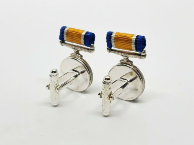 miniature medals First World War WWI military remembrance Heritage luxury cufflinks
