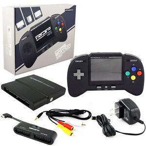 Retro-Duo-Portable-RDP-Nintendo-SNES-amp-NES-Handheld-Console-V2-0-Core-Ed-Black