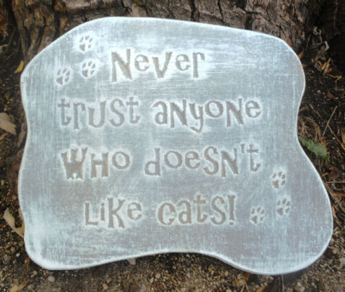 Cat pet plaque mold garden ornament stepping stone mould