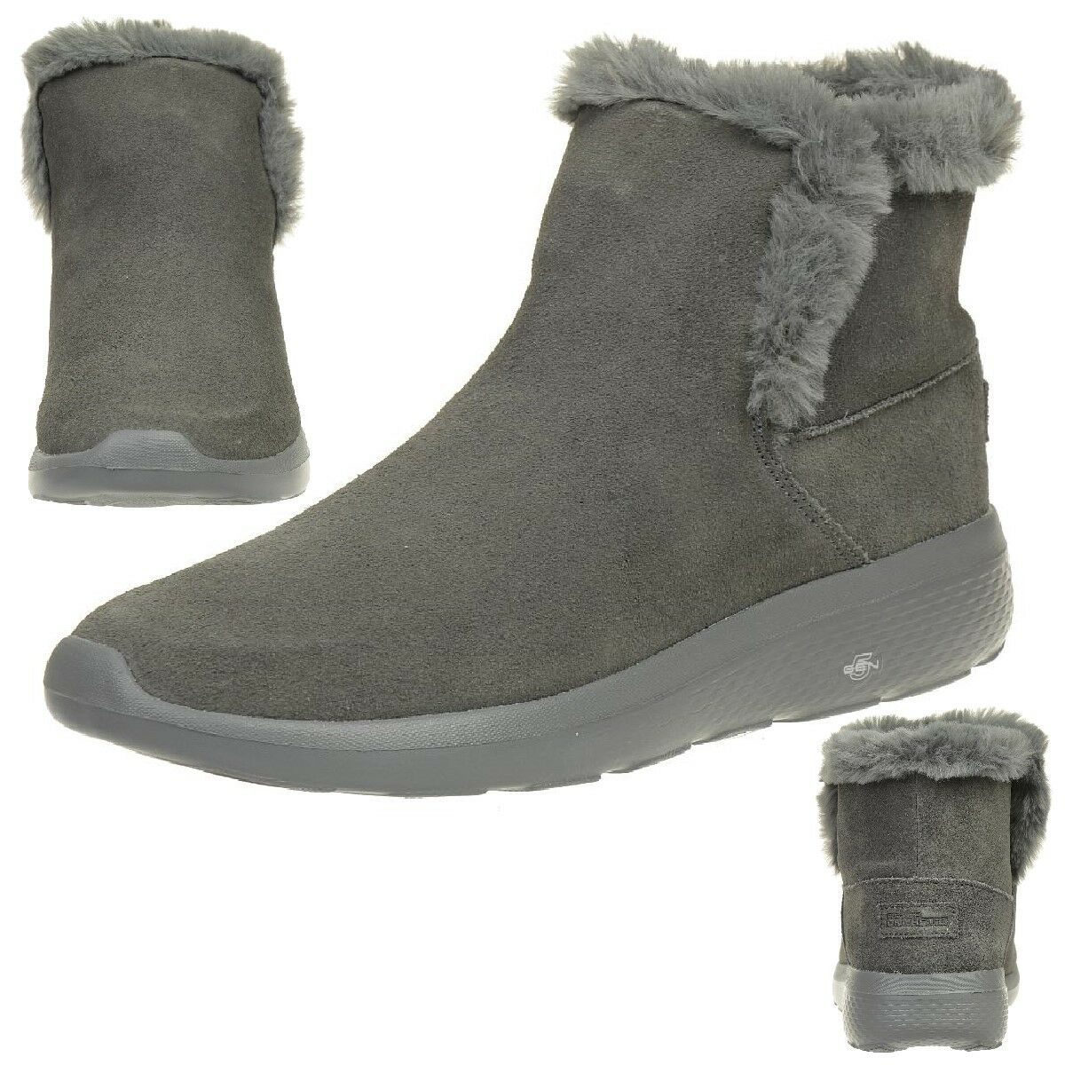 Zapatos promocionales para hombres y mujeres Skechers On the Go 400 City 2 Bundle Stiefel Damen Winterschuhe gefüttert CHAR