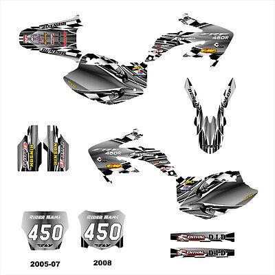 CRF450R graphics sticker kit for Honda MX Bike 2005 2006 2007 2008 #2500 Orange