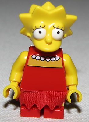 Lego New Lisa Simpson Minifigure with Blue Shirt from Set 71006