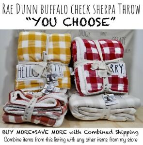 Rae-Dunn-Buffalo-Check-Sherpa-Throw-Blanket-THANKFUL-HELLO-FALL-034-YOU-CHOOSE-034-039-20
