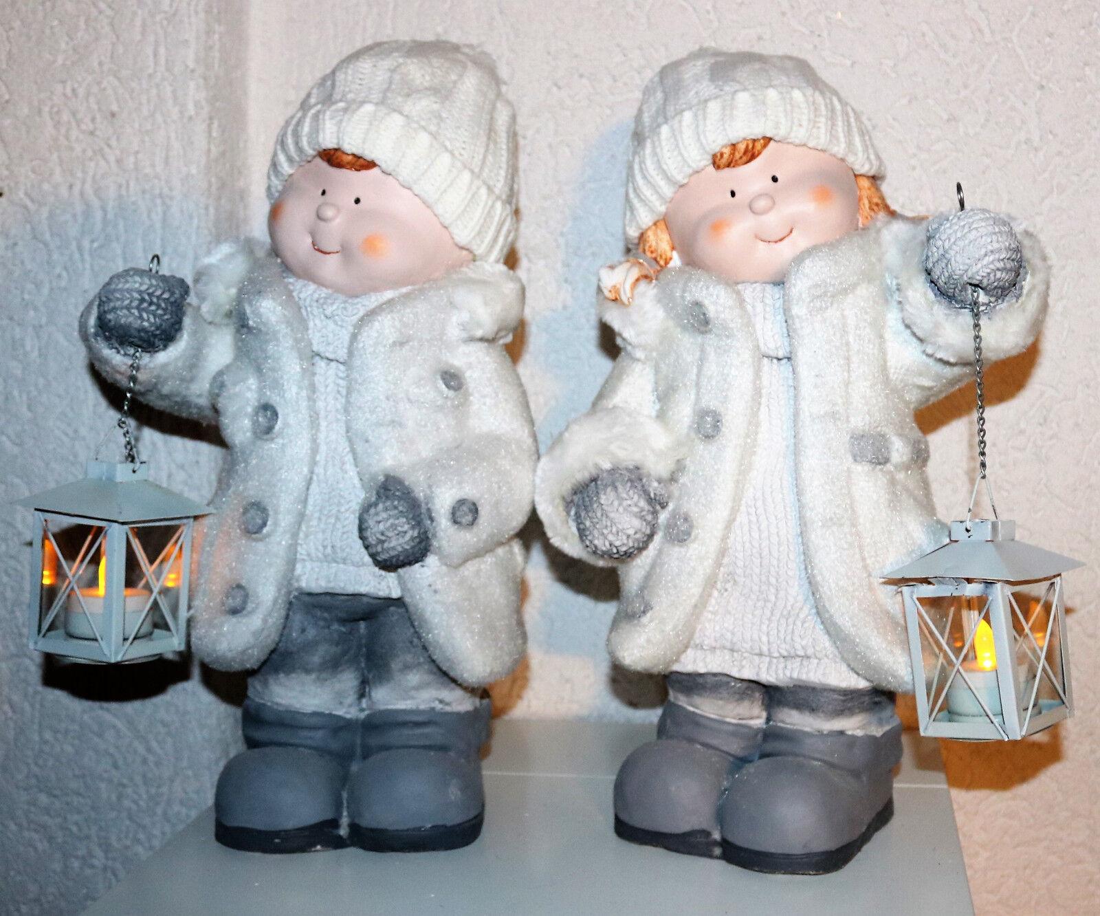 Décoration hiver enfants, debout 2 tageusement Lanterne 41 cm H beau design floqués