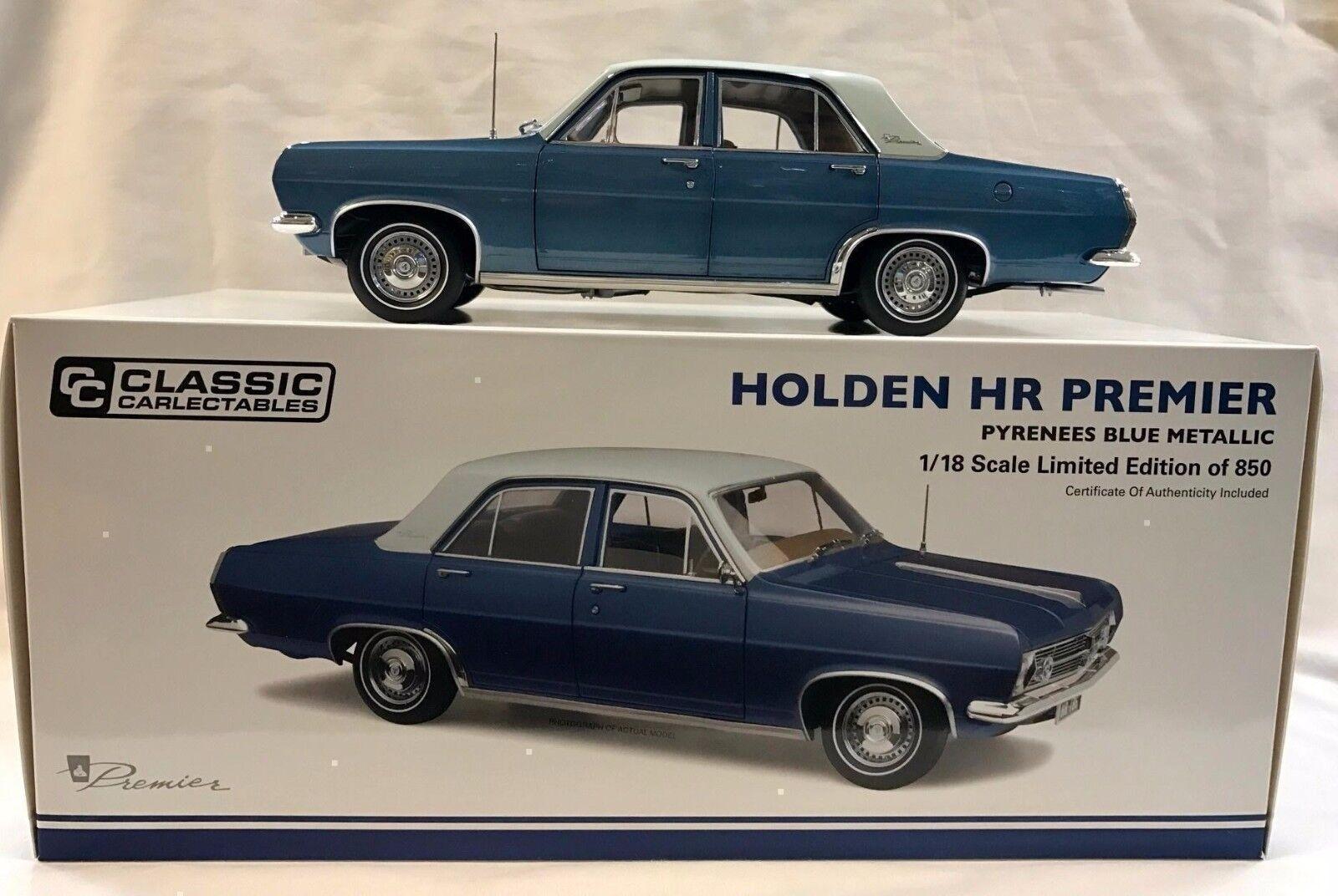 37514 HR Premier Holden Pirineo Metálico blu Die cast Modelo de Coche 1 18