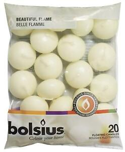 Bolsius-Flame-Floating-Ivory-Candles-For-Wedding-amp-Home-Decoration-Various-Pack
