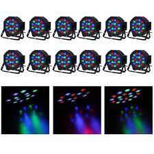 12pcs 18 LED RGB PAR CAN DJ Stage DMX Lighting For Disco Party Wedding Uplight