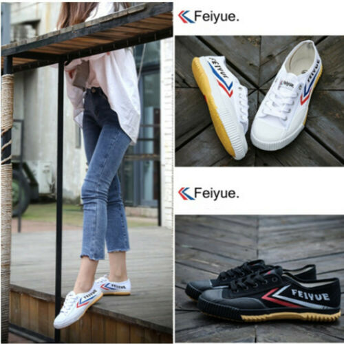 Hot Feiyue Mens Ladies Track Field Training Casual Parkour Sports Canvas Shoes