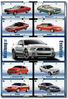 """Ford Mustang Build For Speed Car Fridge Magnet Size 2.5/"""" x 3.7/"""""""