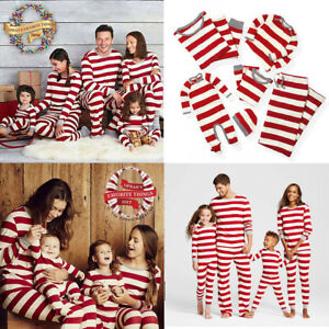 Matching Christmas Pjs.Details About Family Matching Christmas Pajamas Pjs Sets Xmas Sleepwear Nightwear Us Stock