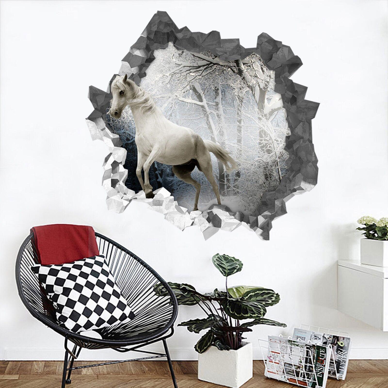 3D whitees Pferd 112 Mauer Murals Mauer Aufklebe Decal Durchbruch AJ WALLPAPER DE