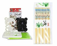 Japanese Bento  Baby Panda Rice Mold Cutter Set & 5 Pairs of Wooden Chopsticks