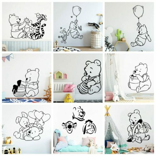Winnie The Pooh and Tiger Vinyl Wall Sticker Decor For Kids Room