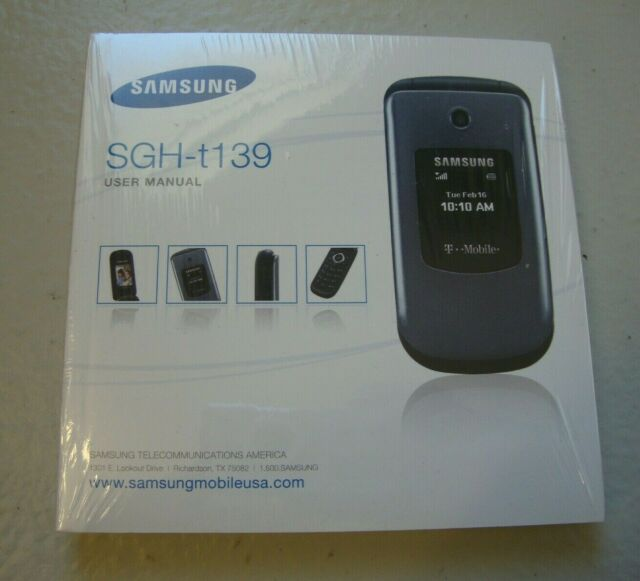 Samsung SGH-t139 Flip Phone User Manual New Sealed English