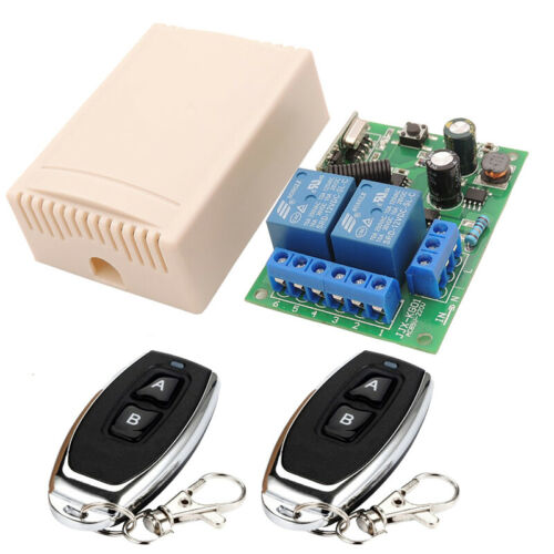 Wireless 433mhz Remote Control Switch AC 220V 10A 2ch Relay Receiver Transmitter