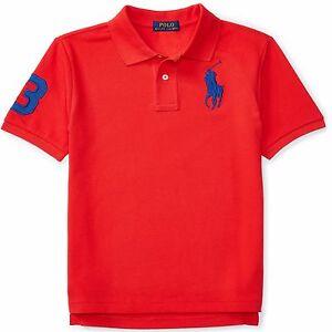NEW - POLO Ralph Lauren Men's Big Pony Custom Fit Polo Shirt - RED ...