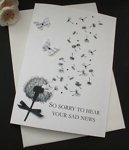 PERSONALISED SYMPATHY BEREAVEMENT CONDOLENCE THINKING OF YOU CARDS