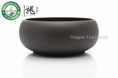 Yixing Clay Dark Brown Cha Xi * Water Bowl for Teacups