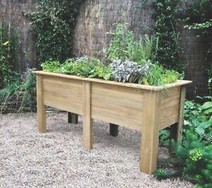 New Raised Height Planter Garden Deep Large Wooden Vegetables Raised Flower Bed